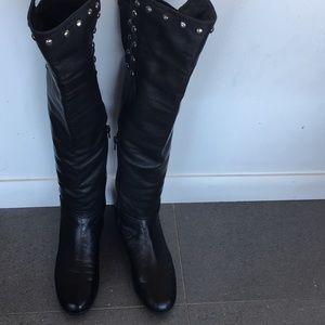 Stuart Weitzman Black wedge boots, size 7